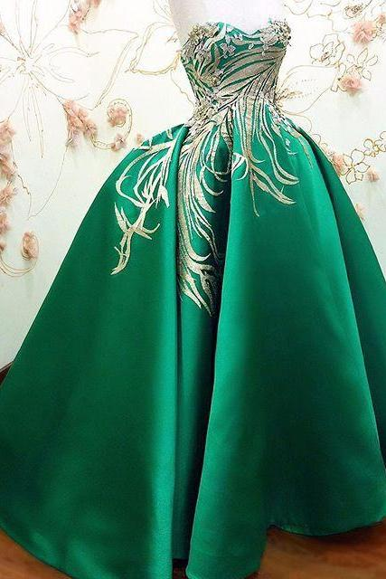 Modest Quinceanera Dress,Sweetheart Ball Gown,Green Prom Dress,Fashion Prom Dress,Sexy Party Dress, New Style Evening Dress