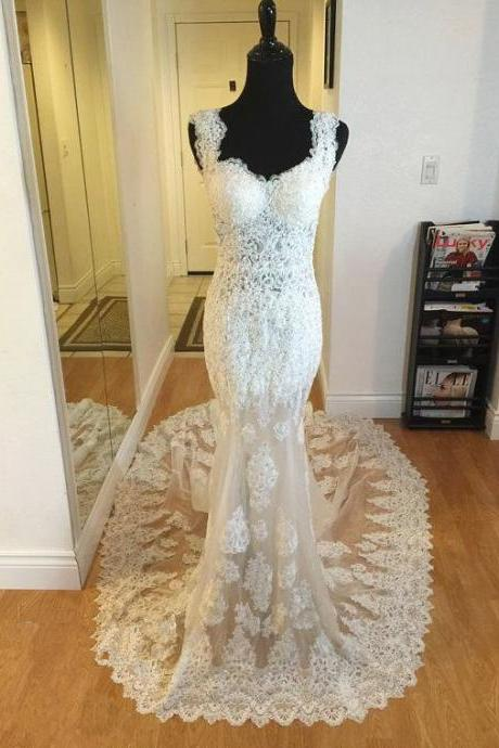 Charming Prom Dress,Lace Prom Dress,Mermaid Prom Dress,Fashion Bridal Dress,Sexy Party Dress, New Style Evening Dress