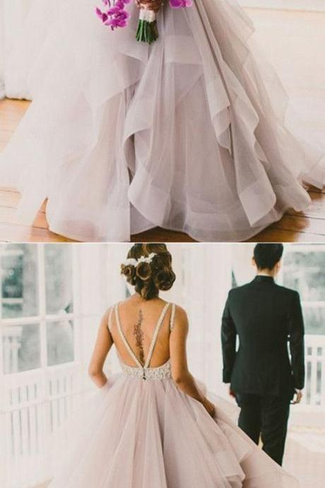 Backless Prom Dress,A Line Prom Dress,Bodice Prom Dress,Fashion Bridal Dress,Sexy Party Dress, New Style Evening Dress