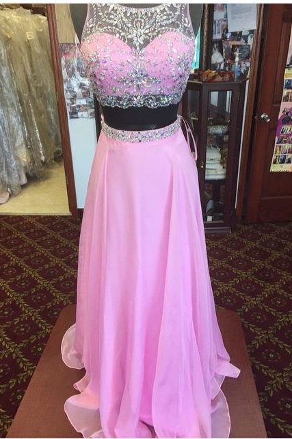 Beaded Prom Dress,Two Pieces Prom Dress,Mermaid Prom Dress,Fashion Prom Dress,Sexy Party Dress, New Style Evening Dress