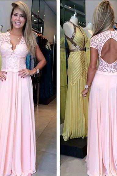 Charming Prom Dress,Backless Prom Dress,Pink Prom Dress,Fashion Prom Dress,Sexy Party Dress, New Style Evening Dress
