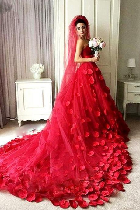 Gorgeous Ball Gown,Red Prom Dress,Sweetheart Prom Dress,Fashion Bridal Dress,Sexy Party Dress, New Style Evening Dress