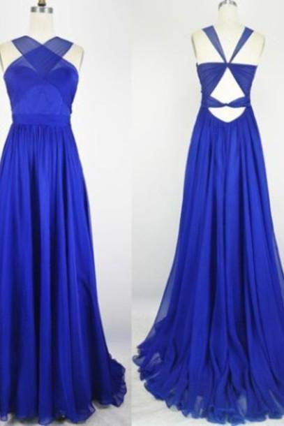 Royal Blue Prom Dress,Bodice Prom Dress,Fashion Prom Dress,Sexy Party Dress,Custom Made Evening Dress