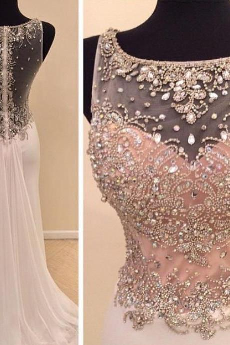 Charming Prom Dress,Beaded Prom Dress,Fashion Prom Dress,Sexy Party Dress,Custom Made Evening Dress