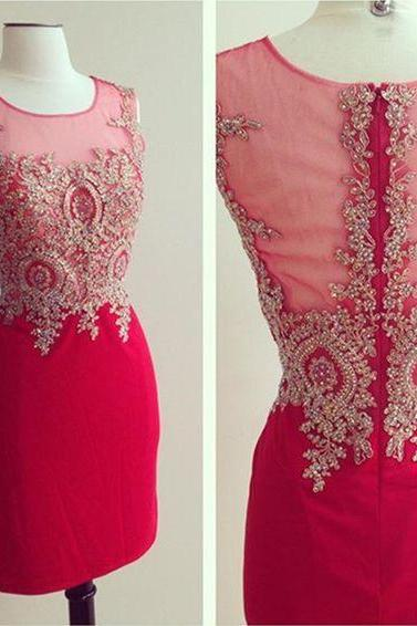 Beaded Prom Dress,Pencil Prom Dress,Fashion Homecoming Dress,Sexy Party Dress,Custom Made Evening Dress
