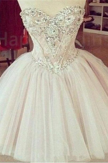 Beaded Prom Dress,Sweetheart Prom Dress, Fashion Homecoming Dress,Sexy Party Dress,Custom Made Evening Dress