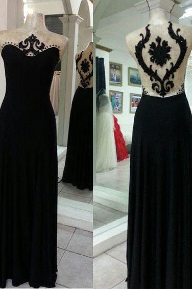 Black Prom Dress,Sheath Prom Dress,Fashion Prom Dress,Sexy Party Dress,Custom Made Evening Dress