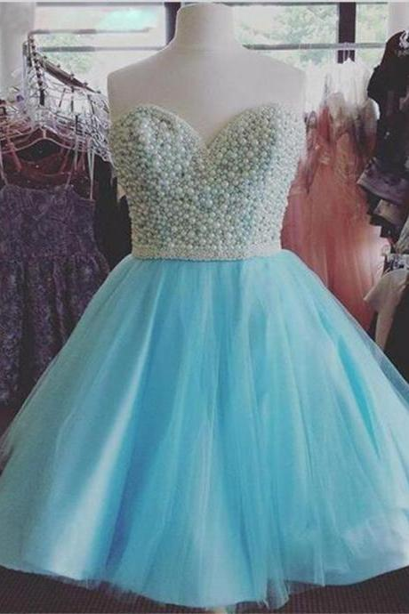 Sweetheart Prom Dress,Beaded Prom Dress,Fashion Homecoming Dress,Sexy Party Dress,Custom Made Evening Dress