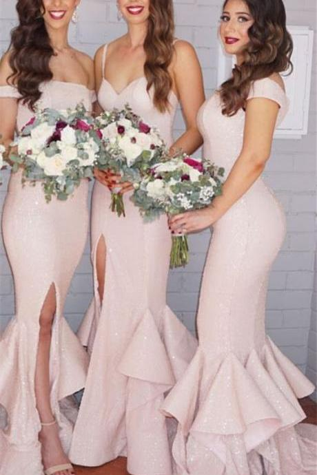 Pink Prom Dress,Mermaid Prom Dress,Fashion Bridesmaid Dress,Sexy Party Dress, New Style Evening Dress