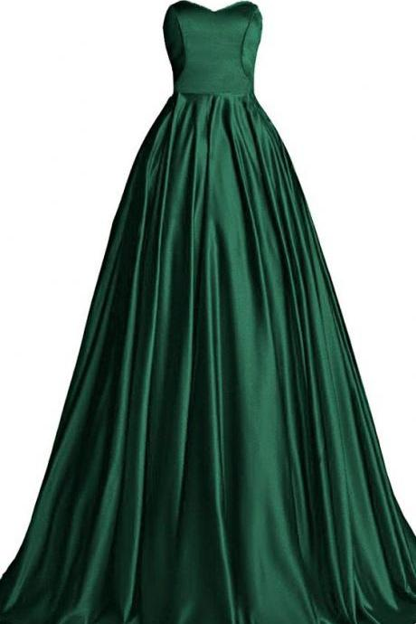 Hunter Green Prom Dress,Bodice Prom Dress,Fashion Prom Dress,Sexy Party Dress,Custom Made Evening Dress