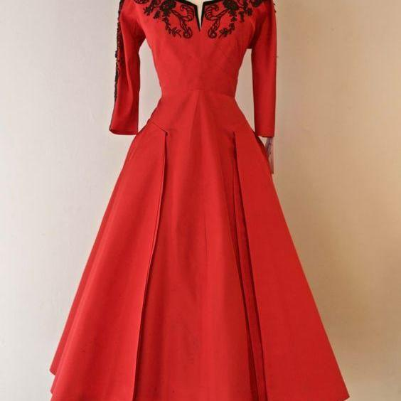Red Prom Dress,A Line Evening Dress,Fashion Prom Dress,Sexy Party Dress,Custom Made Evening DressTw