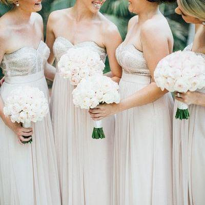 Sweetheart Sequins Bridesmaid Dresses,Wedding Party Dress,Wedding Guest Dresses,Elegant Bridesmaid Dress
