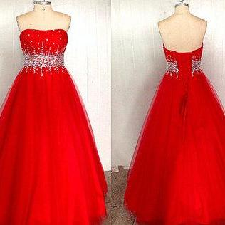 Ulass New Prom Gown Tulle Prom Dresses