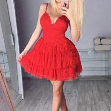 Homecoming Dress,Sexy Homecoming Dress,A-Line Prom Dresses,Spaghetti Straps Homecoming Dresses