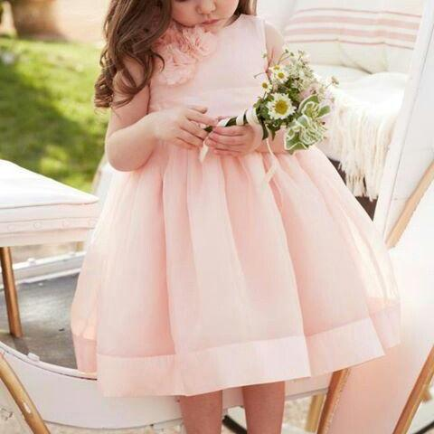 Flower Girl Dress,Pink Prom Dress,A Line Prom Dress,Fashion Bridesmaid Dress, New Style Evening Dress