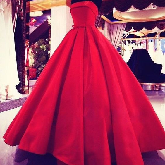 Strapless Prom Dress,Red Prom Dress,Maxi Prom Dress,Fashion Prom Dress,Sexy Party Dress, New Style Evening Dress