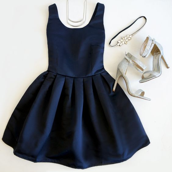 Navy Blue Prom Dress,Mini Prom Dress,Fashion Homecomig Dress,Sexy Party Dress, New Style Evening Dress