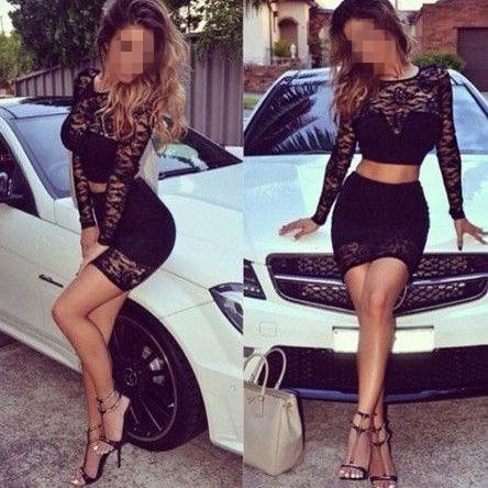Two Pieces Prom Dress,Lace Prom Dress,Mini Prom Dress,Fashion Prom Dress,Sexy Party Dress, New Style Evening Dress