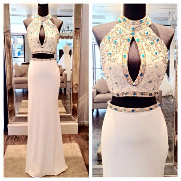 Mermaid Prom Dress,Beaded Prom Dress,Halter Prom Dress,Fashion Prom Dress,Sexy Party Dress,New Style Evening Dress