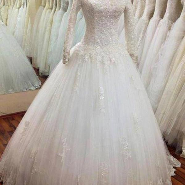 High Collar Prom Dress,Lace Prom Dress,Long Sleeve Prom Dress,Fashion Bridal Dress,Sexy Party Dress, New Style Evening Dress