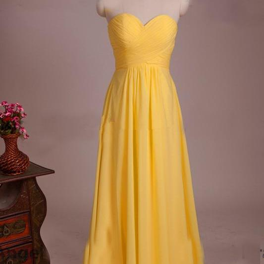 Yellow Prom Dress,Sweetheart Prom Dress,Fashion Prom Dress,Sexy Party Dress, New Style Evening Dress