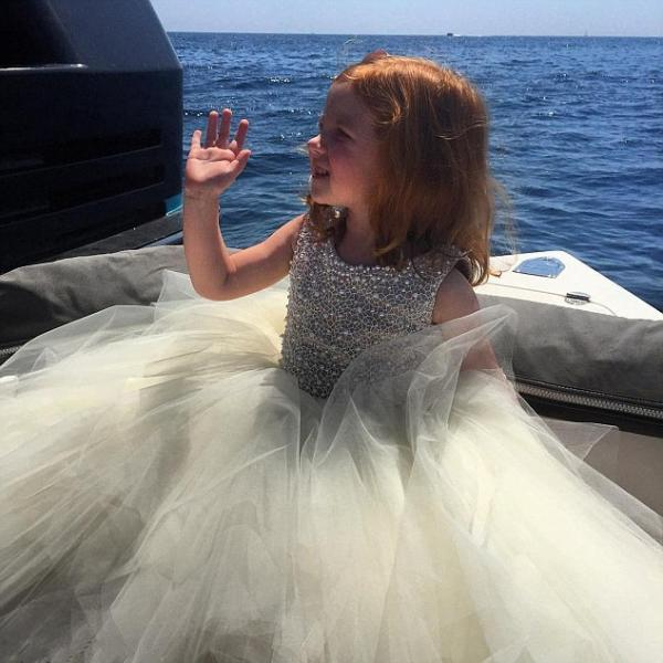 Flower Girl Prom Dress,Beaded Prom Dress,Tulle Prom Dress,Fashion Bridesmaid Dress,Sexy Party Dress, Custom Made Evening Dress