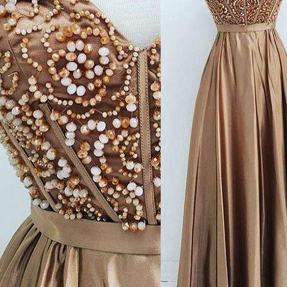 Sweetheart Prom Dress,Beaded Prom Dress,Fashion Prom Dress,Sexy Party Dress,Custom Made Evening Dress
